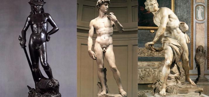 Davi e 3 artistas = 183 anos de história da arte